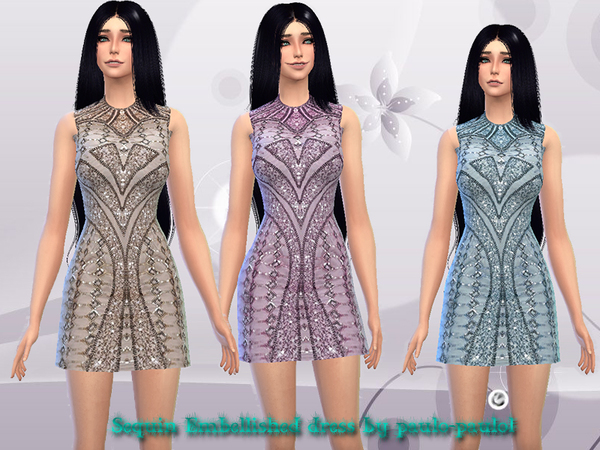 Sequin Embellished dress by paulo-paulol