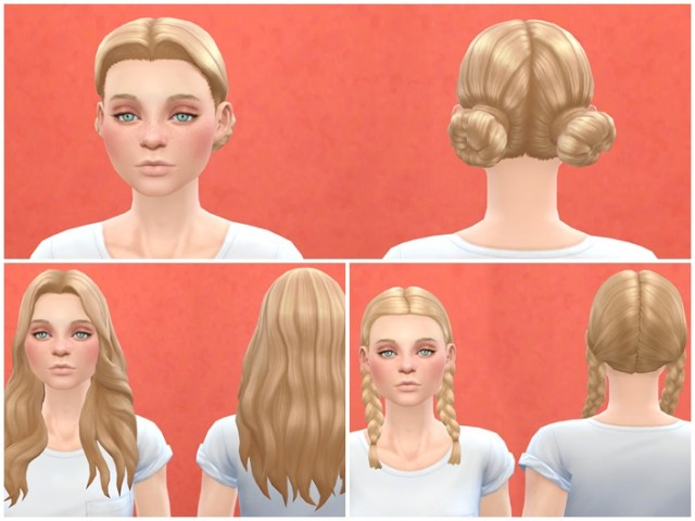Base Game Compatible Outdoor Retreat Female Hair by Pickypikachu