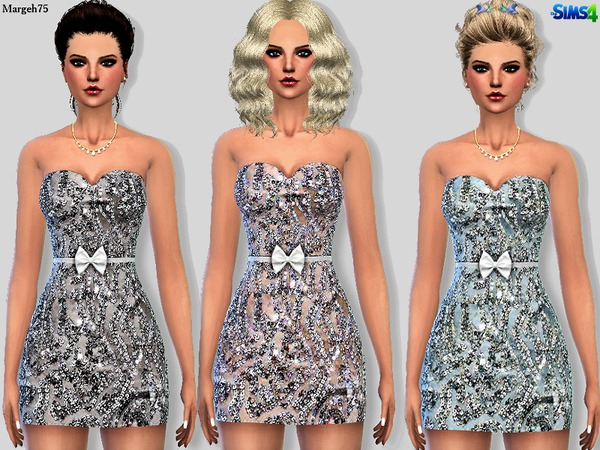 Sims 4 Secret Sequin Dress by Margeh-75