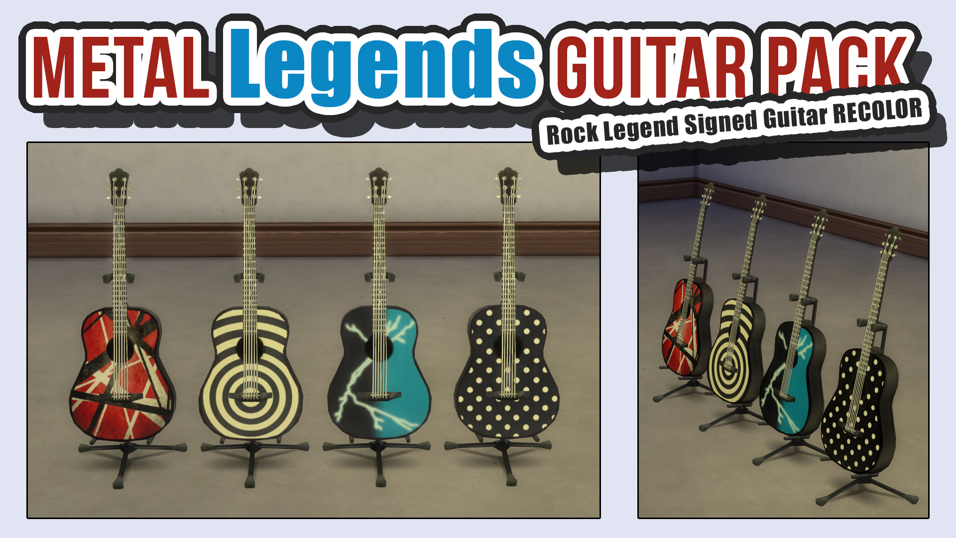 Metal Legends Guitar Pack by ironleo78