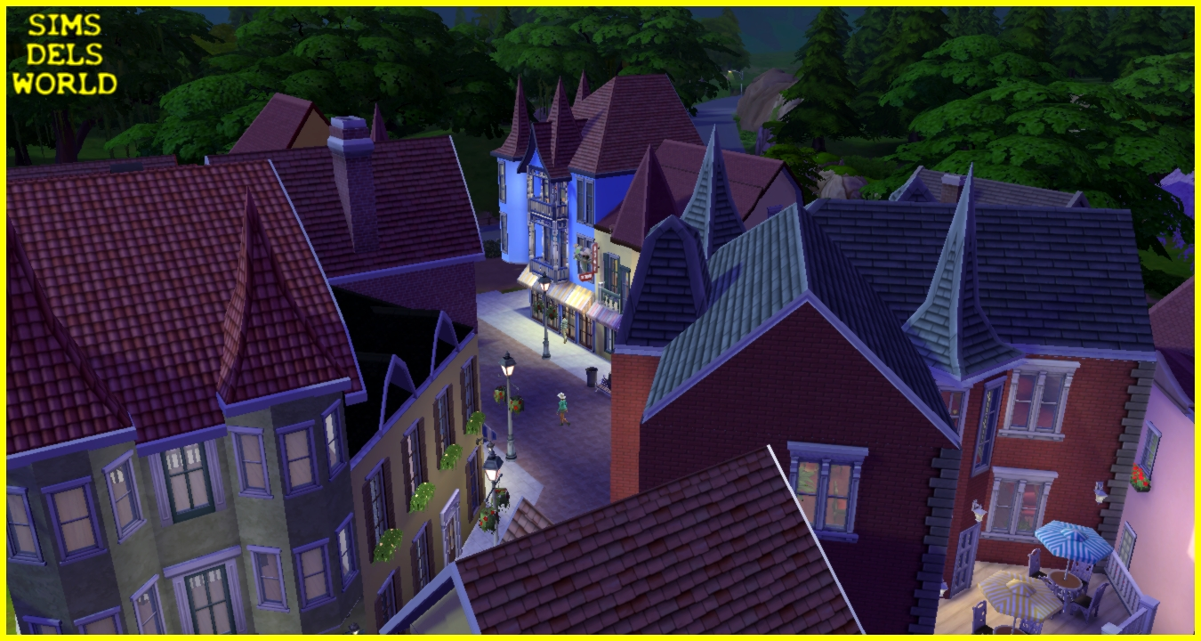 European City Center (No CC) by SimsDelsWorld