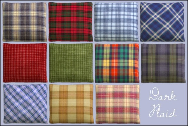 Plaid Cushions by Martine