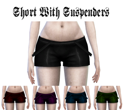 Shorts with Suspenders by LadyHayny