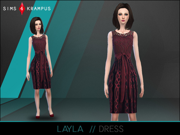 Layla Red Dress by SIms4Krampus