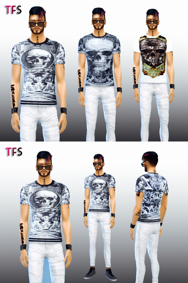 Skull T-Shirts by TwistedFate Sims