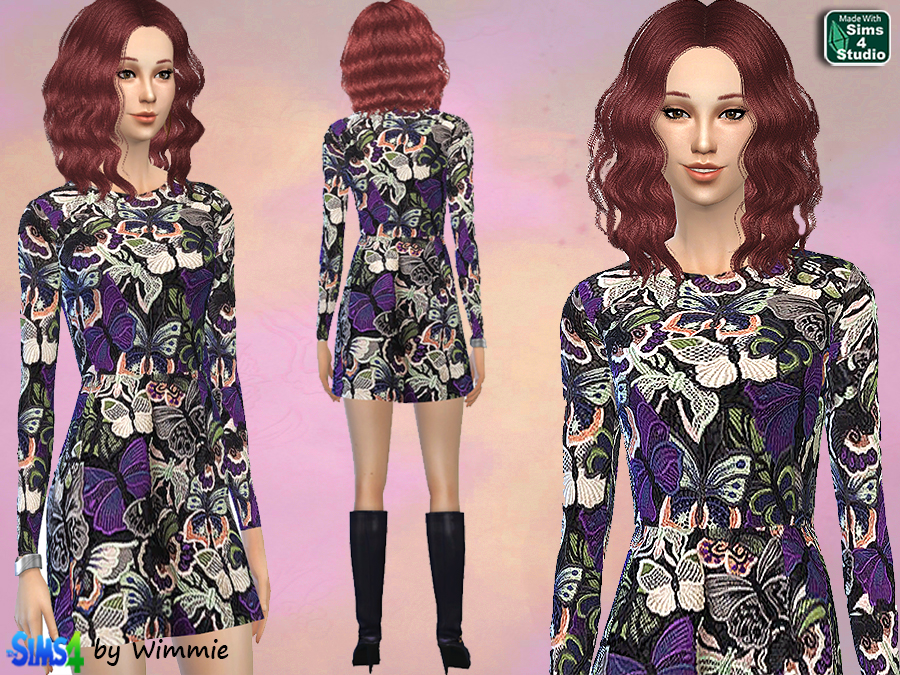 Butterfly Jaquard Dress by Wimmie
