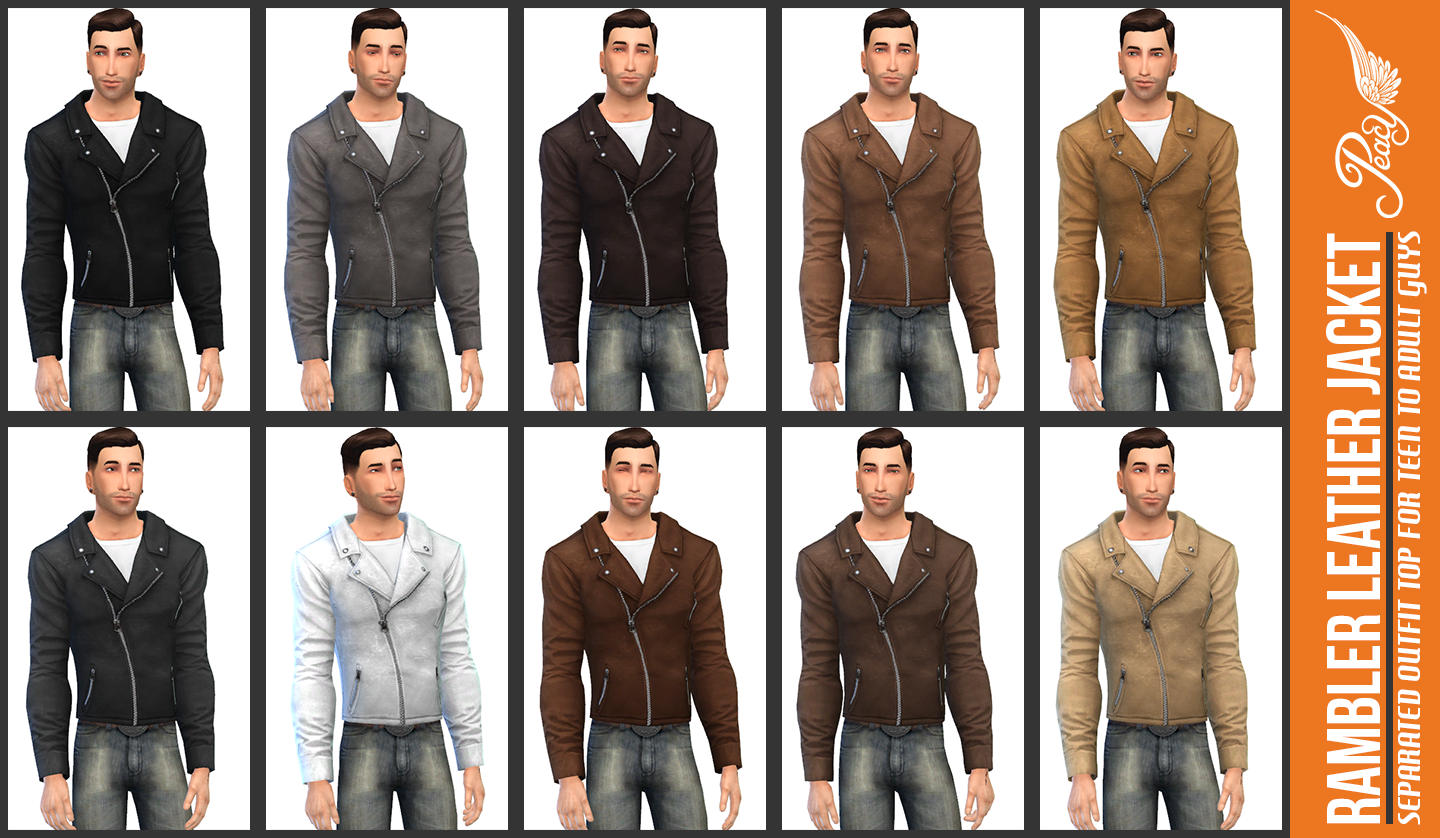 Rambler Leather Jacket at Simsational Designs