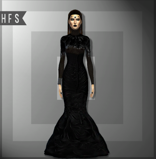 Darqueen Dress by Hautfashionsims4