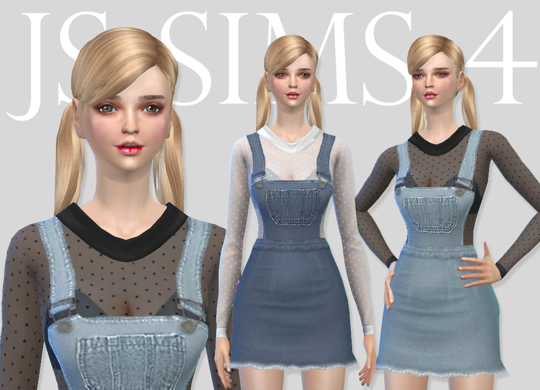 Denim Overall Skirt Set by JS SIMS