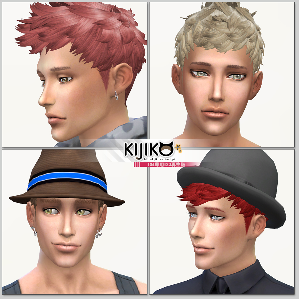 Faux Hawk Hair for Males by Kijiko