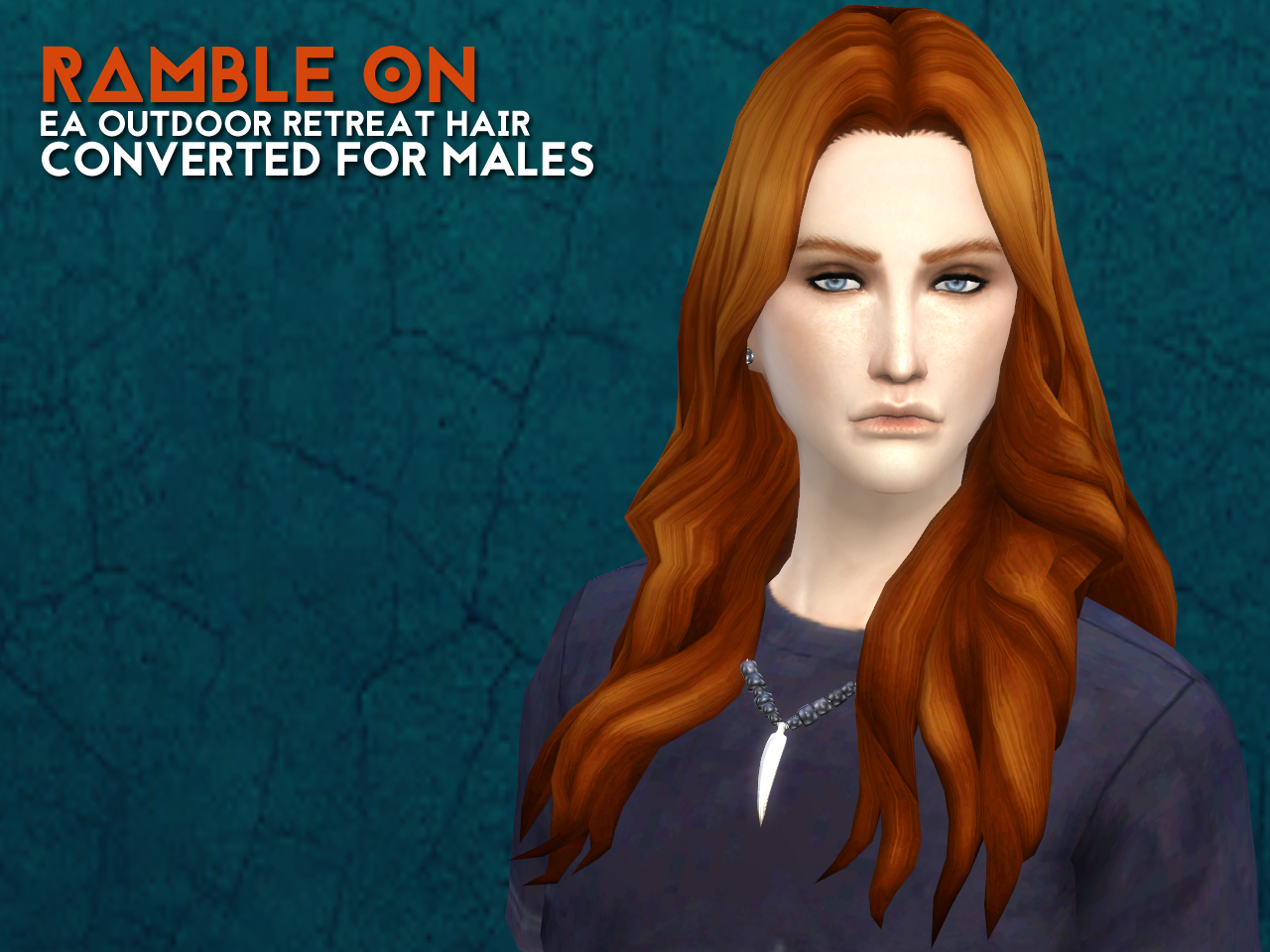 Outdoor Retreat Female Hair Converted and Retextured for Males by Astraea Nevermore