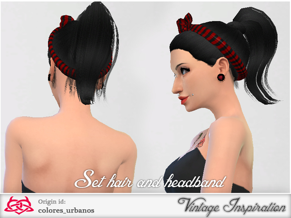 Set retro / alternative hair / headband 03 by Colores Urbanos