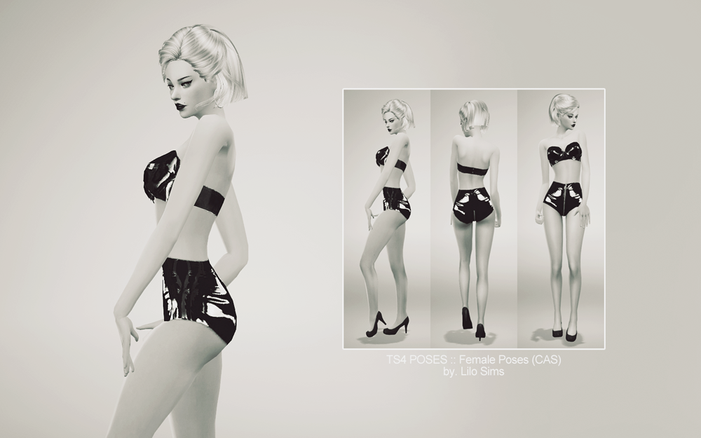 POSES 01 (CAS ver.) at LILO Sims4