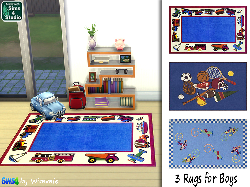 Rugs for boys by Wimmie