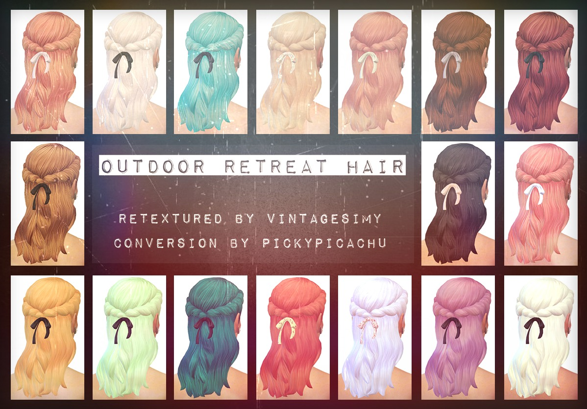Outdoor Retreat Ribbon Hair 17+ Colors at Vintage Simy
