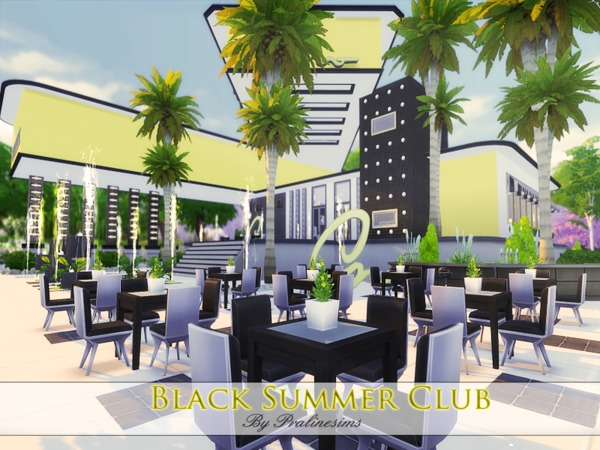 Black Summer Club by Pralinesims