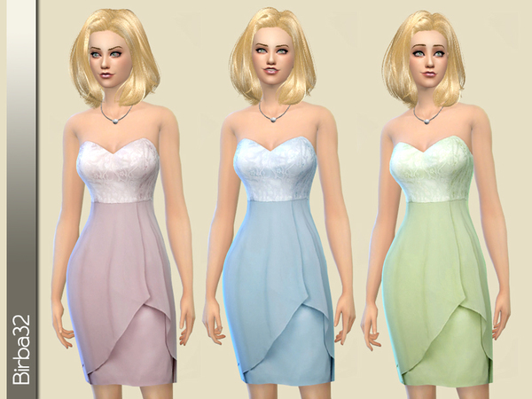 Silk and Lace Pastel Dress by Birba32