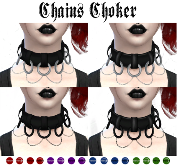 Chains Choker by LadyHayny