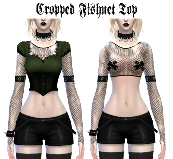 Cropped fishnet top (accessory) by LadyHayny