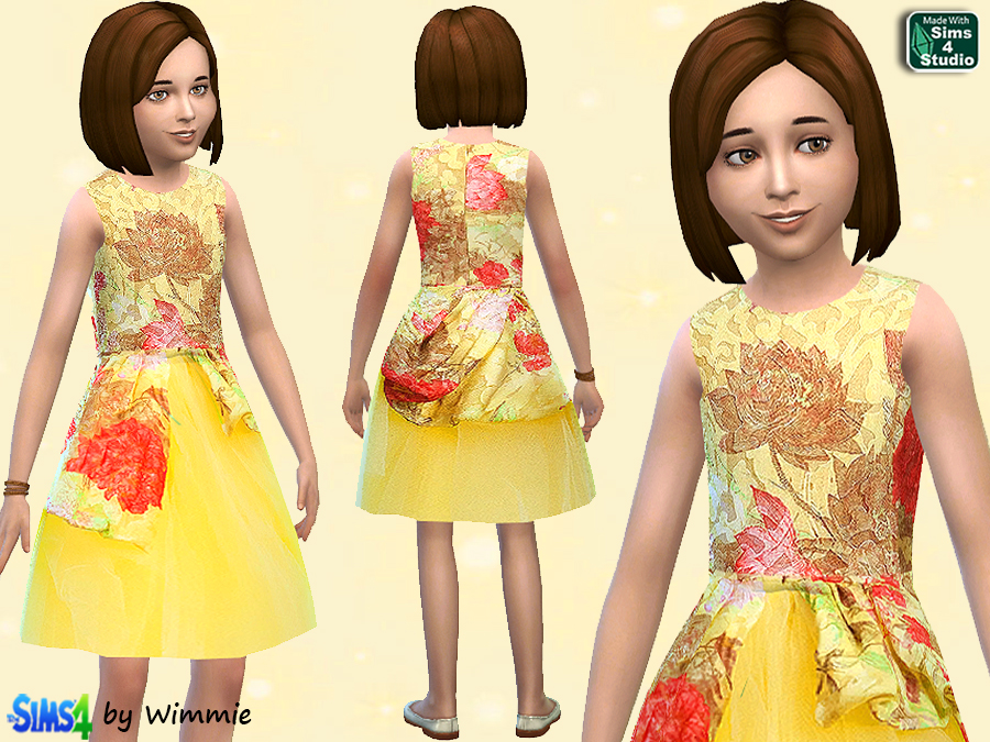 Yellow Silk dress by Wimmie
