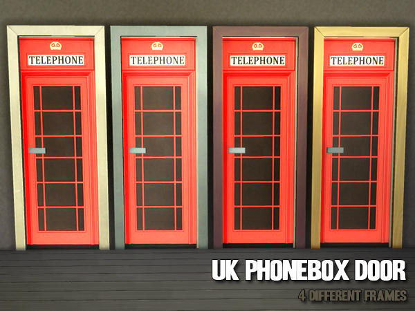 UK Phonebox Door by Waterwoman