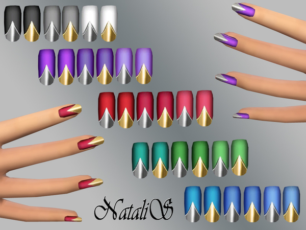NataliS_Matte nails metal tips FT-FE