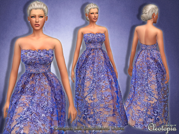 Set22- Designer Floral Embellished Gown by Cleotopia