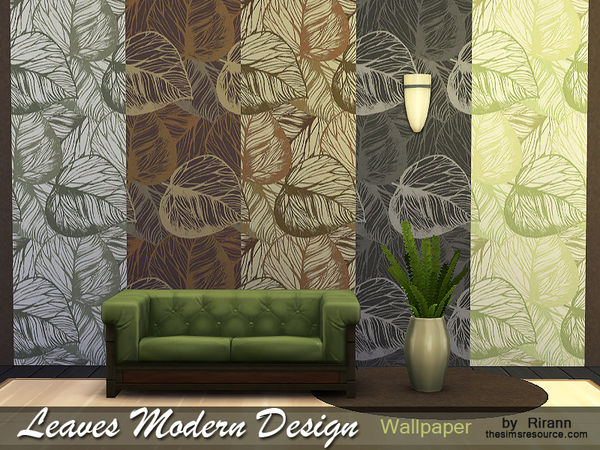 Leaves Modern Design Wallpaper by Rirann