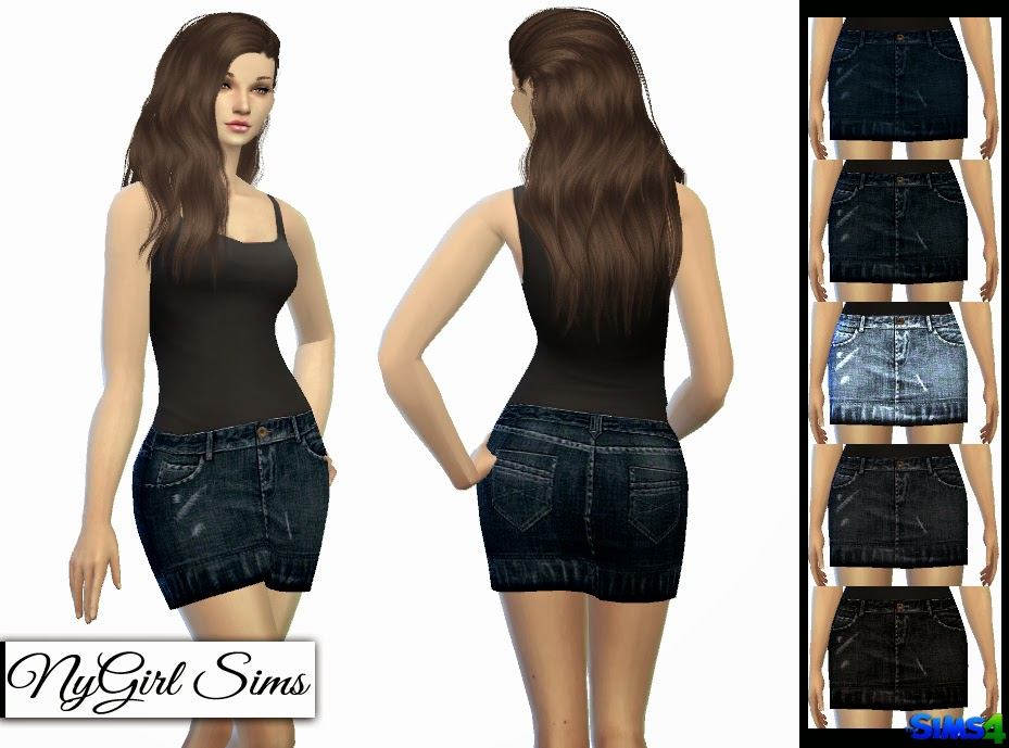 TS3 Jean Skirt Conversion by NyGirl