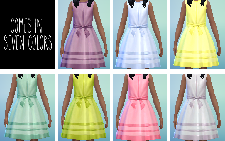 Dress for Girls in 7 Colors by Egosandlies
