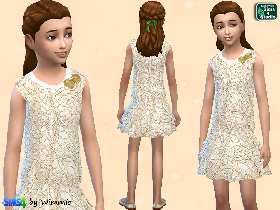 Gold and Ivory Skirt and Top at Just For Your Sims