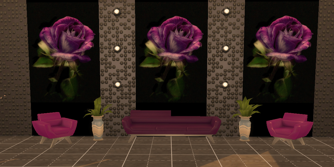 Photo Wall Mural Purple rose by Simchanka