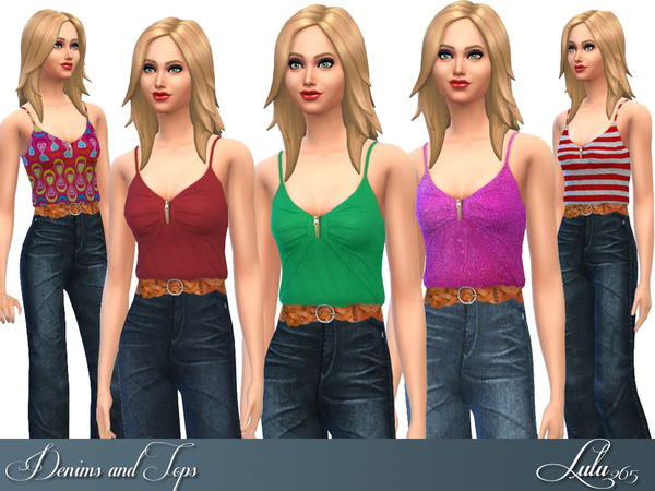 Denims and Tops by Lulu265