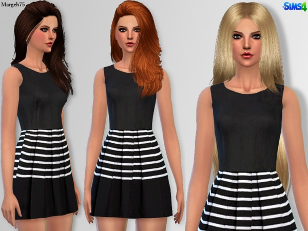 Splendid Stripes Dress by Margeh-75