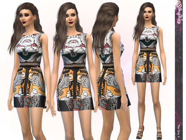 Designer Print Dress by Simsimay