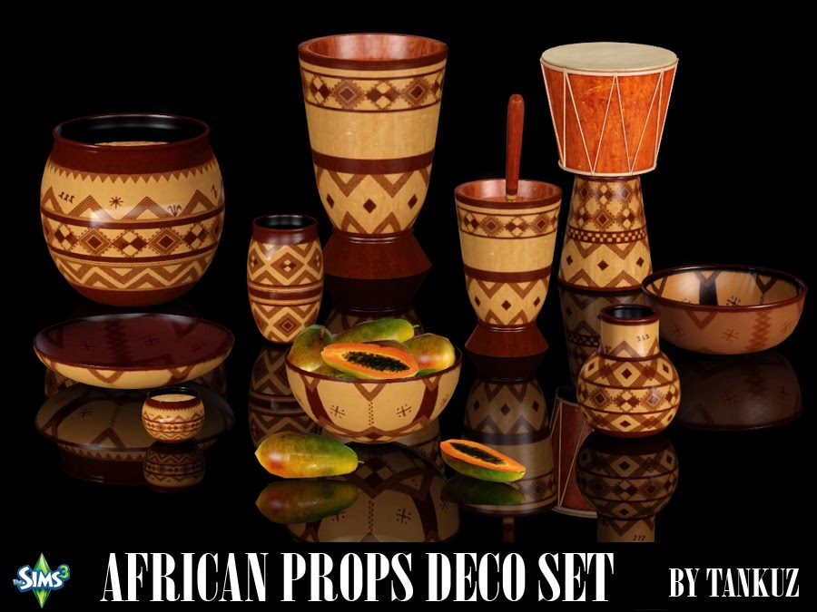 African Props Deco Set by Tankuz