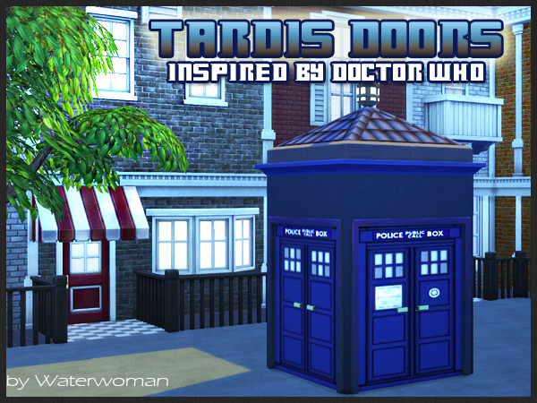 Doctor Who TARDIS doors at Akisima