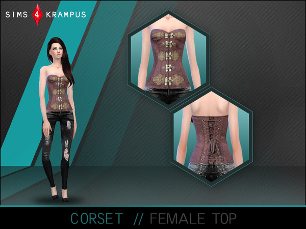 Corset Top for Women by SIms4Krampus