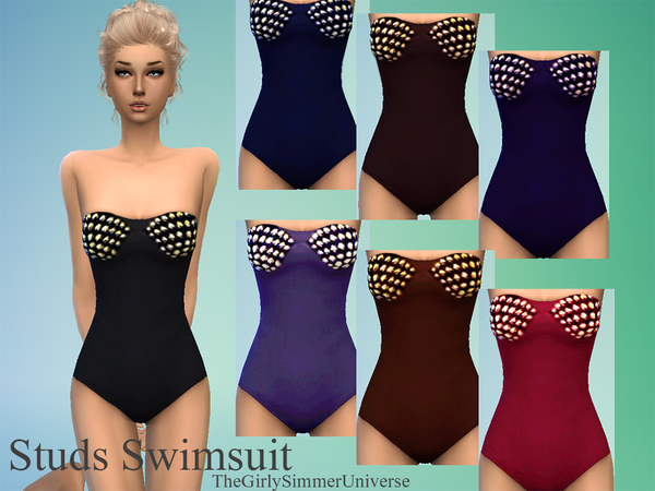 Studs Swimsuit by TheGirlySimmerUniverse