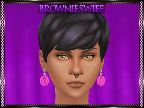 Heartagram Earrings by Brownieswifesims