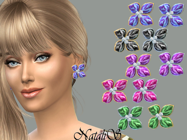 NataliS_Elegant flower earrings FT-FE