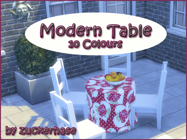 Modern Table by Zuckerhase