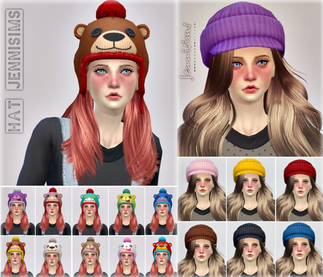 Hats Base Game compatible Outdoor Retreat conversion of child / AF Male / Female by JenniSims