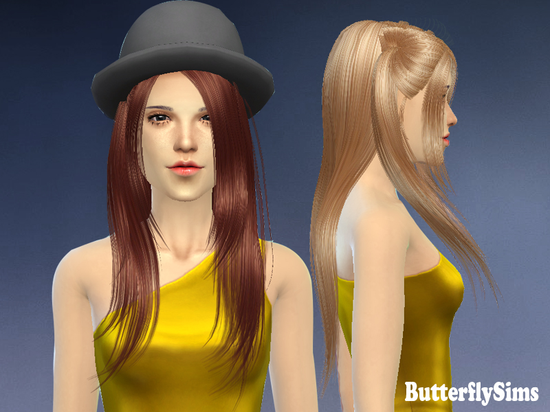 Hair 033 for Females by ButterflySims