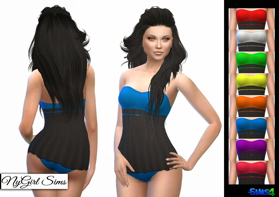 Strapless Skirted Swimsuit at NyGirl Sims