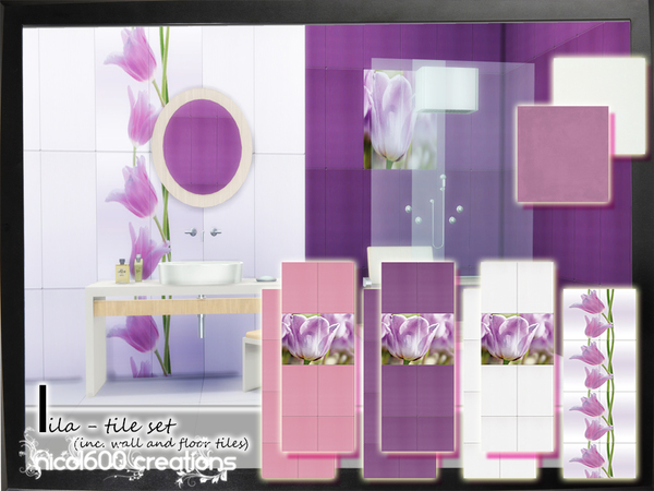 Lila Tile Set by nicol600