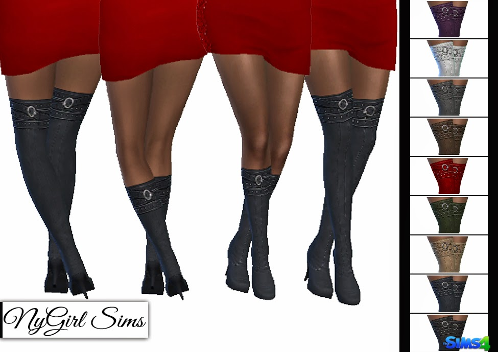 Belt Wrapped Boots at NyGirl Sims