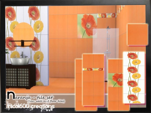 Naranja - tile set by nicol600