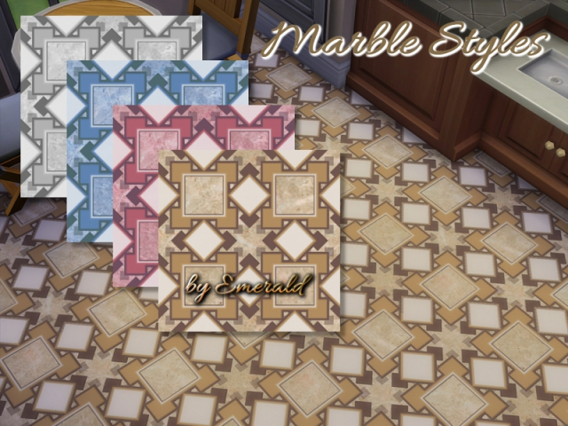 Marble Styles tiles by emerald