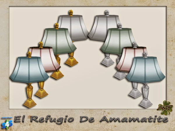 Table Lamp Recolors by Amamatite